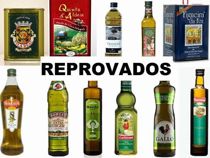 azeites de oliva reprovados
