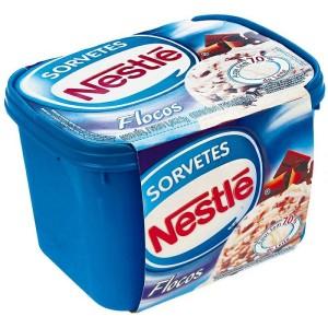 sorvete de flocos nestlé