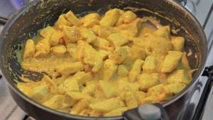 Frango ao Curry Fitness passo 4