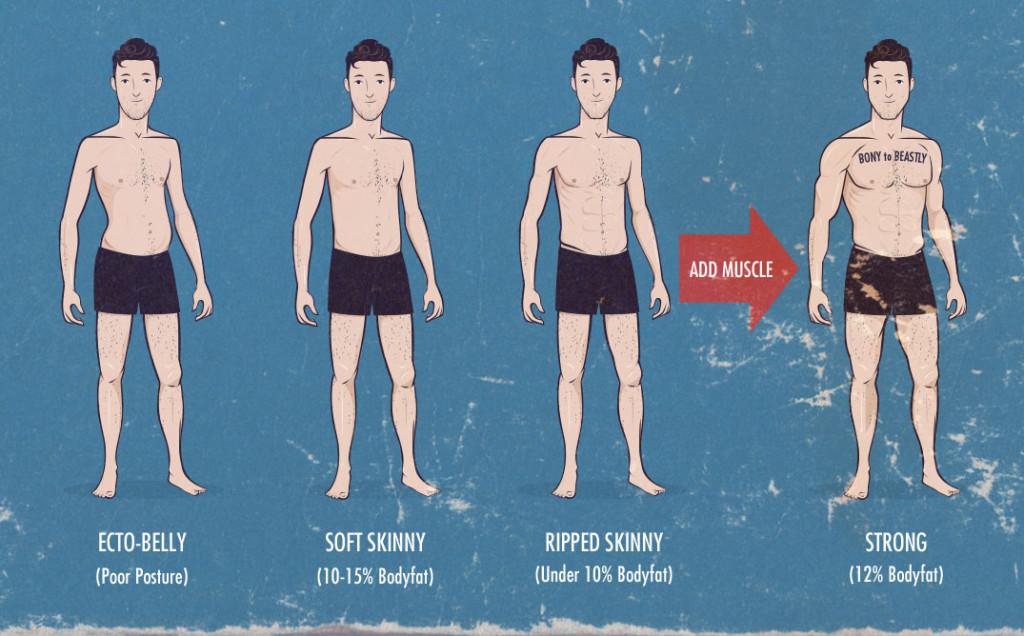 tipos de corpo de ectomorfo